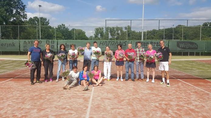 De winnaars van het Bloementoernooi in Oldenzaal.