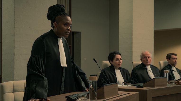 De gehele film speelt zich zelfs binnen de muren van een rechtbank af.  Beeld Bram Suijker