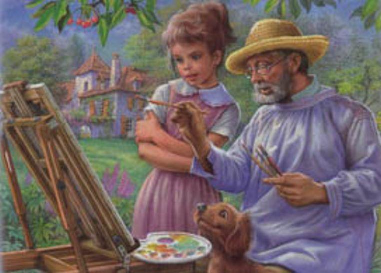 De cover van 'Tiny leert tekenen', in de bekende stijl.