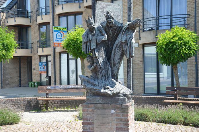Het beeld van de Driekoningenviering in Denderhoutem.