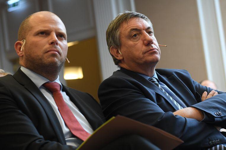 Theo Francken en Jan Jambon. Beeld Photo News