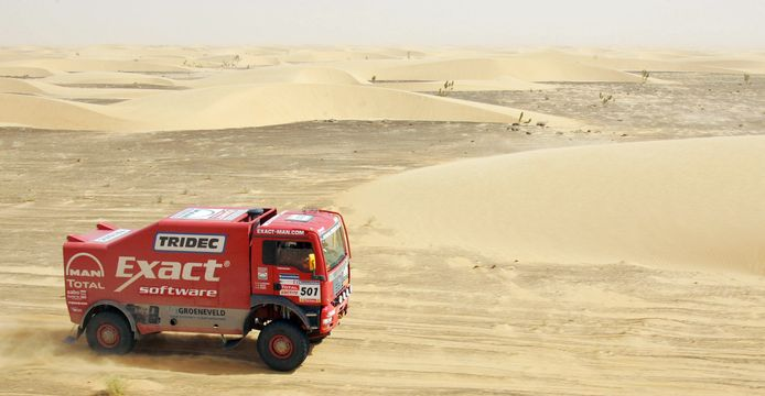 De MAN-truck van Hans Stacey wint de achtste etappe van de Dakar Rally 2007