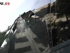 Le bus du Barça vandalisé (vidéo)