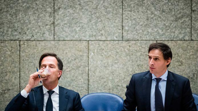 Mark Rutte (VVD) en Wopke Hoekstra (CDA) komen elkaar straks weer tegen bij de verkiezingen.