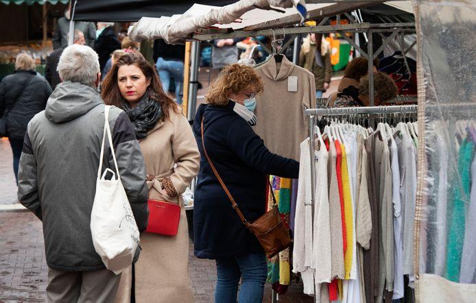 De markt in Geldermalsen.