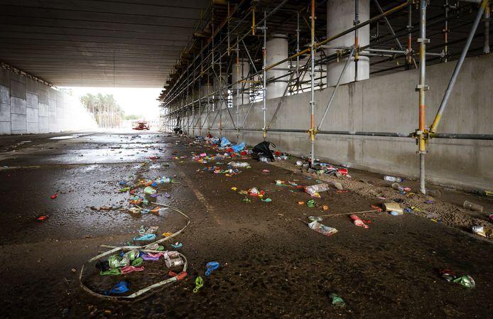 Zowel in Zoetermeer als in Hilversum (foto) werd zaterdagavond een illegaal feest gehouden