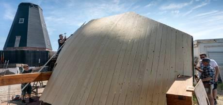Werk aan molen de Zwaan in Vinkel vordert gestaag, in september moet-ie dan echt af zijn