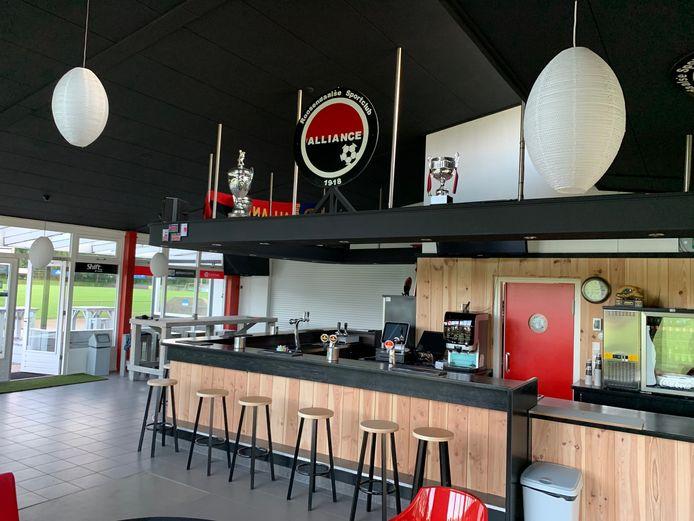 Kantine van RC Alliance, voetbalclub in Roosendaal.