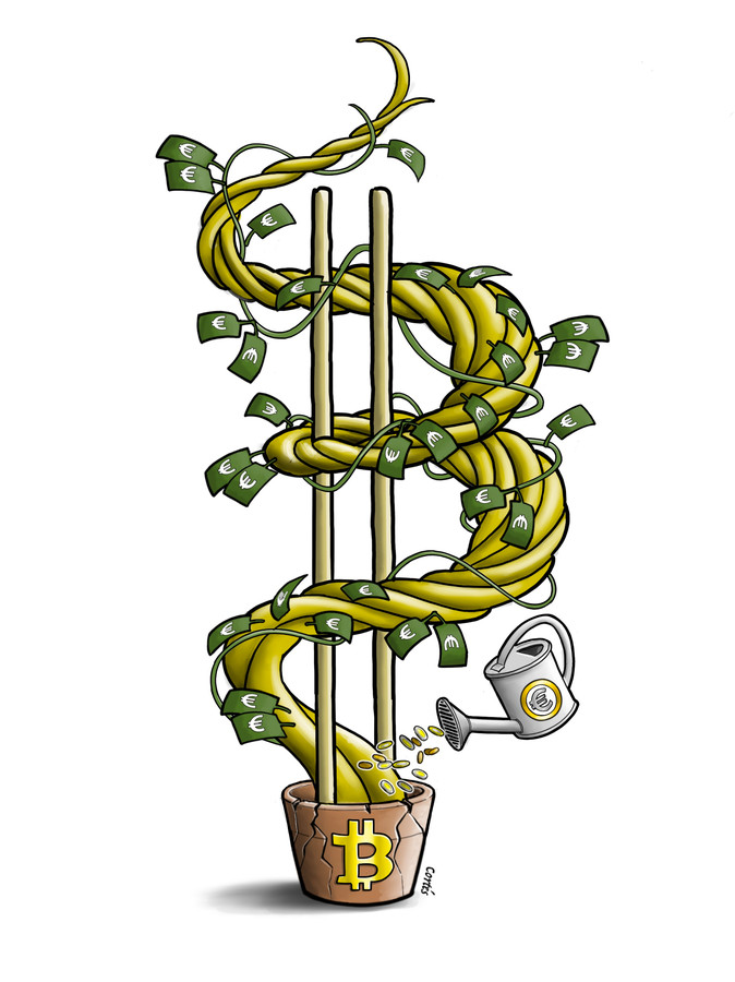 De waarde van de Bitcoin is flink gestegen. Wie vroeg is ingestapt, plukt daar nu de vruchten van.