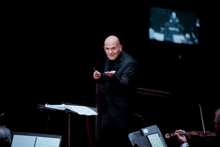 Jaap van Zweden dirigeert Beethovens Fidelio in de NTR ZaterdagMatinee. Beeld Simon van Boxtel