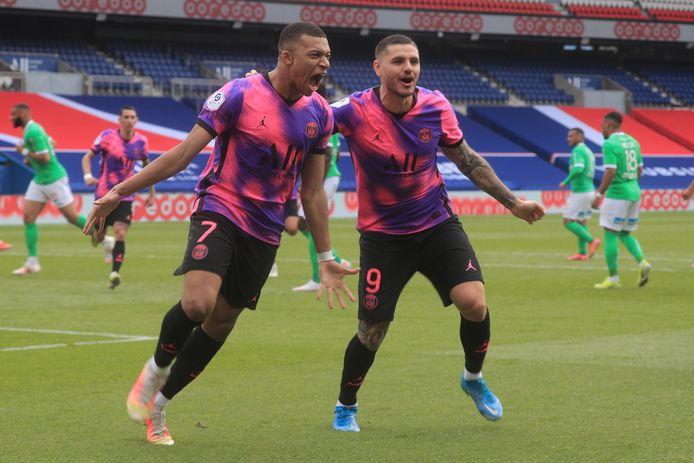 Le duo Mbappé-Icardi a sauvé le PSG contre Saint-Etienne.