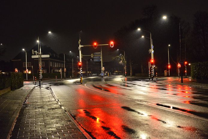 Verlaten kruising in Breda.