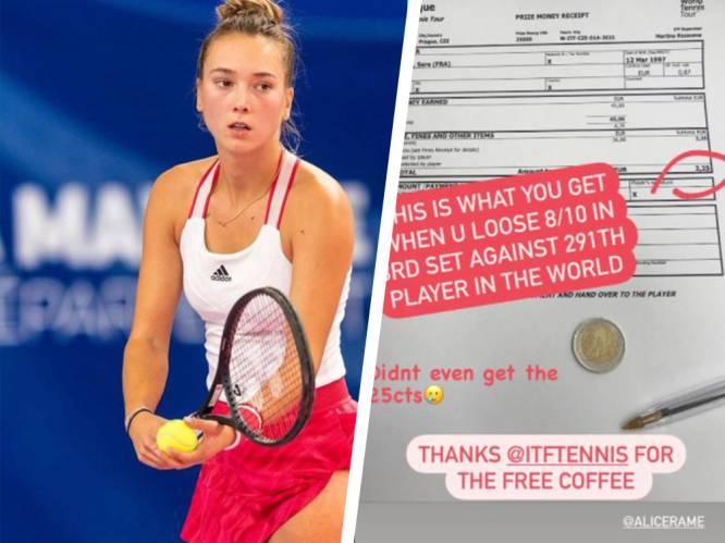 Hoe corona de kelder van de sport treft: tennisster (24) gaat na drie zware sets onderuit en krijgt... 2,25 euro