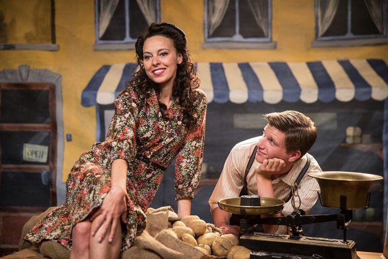 Marie Vinck als de jonge versie van de moeder in 'Sprakeloos'. Beeld RV