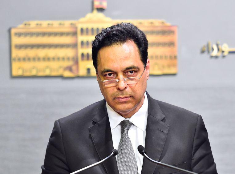 Libanees premier Hassan Diab. Beeld EPA