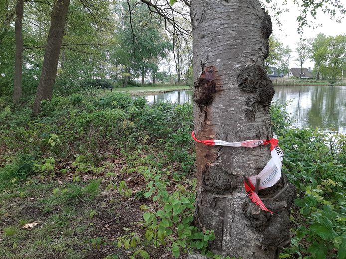 Wernhoutsburg ligt er een etmaal na de gruwelijke vondst van het babylijkje verlaten bij. Alleen een enkel politielint om een boom herinnert nog aan het drama dat zich bij het ven afspeelde