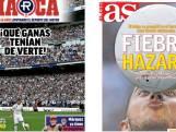 """La """"fièvre Hazard"""" s'empare de la presse sportive espagnole"""