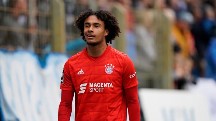 Joshua Zirkzee begin deze maand tijdens SV Meppen - Bayern München II in de 3. Liga.