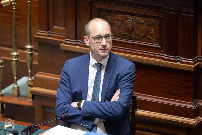 CD&V-vicepremier en minister van Financiën  Vincent Van Peteghem (CD&V) in de Kamer.