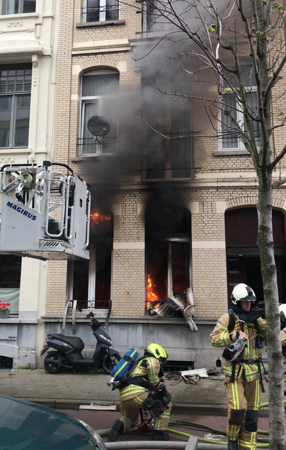 Woningbrand in Borgerhout.