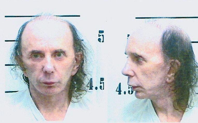 Een'mugshot'-foto van Phillip Spector uit 2009. Beeld Getty Images