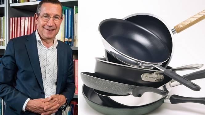 """Moeten we stoppen met het gebruik van pannen met PFAS? Toxicoloog Jan Tytgat: """"Geen gevaar op blootstelling bij correct gebruik"""""""