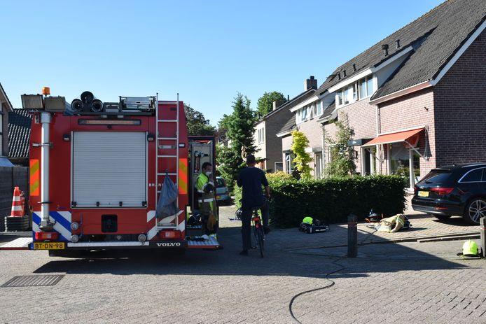 Diverse brandweerkorpsen rukten uit.