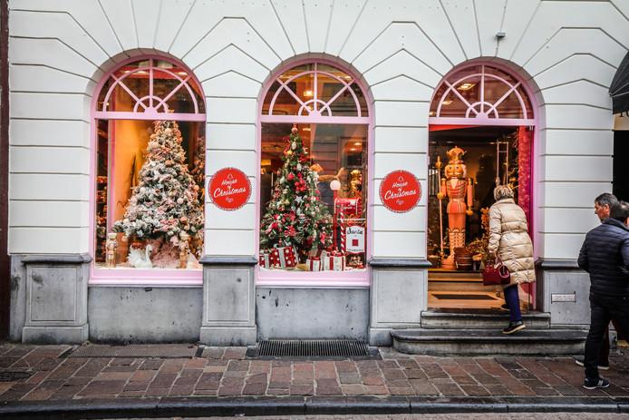 House of Christmas in de Wollestraat: de kleur roze is er nooit veraf