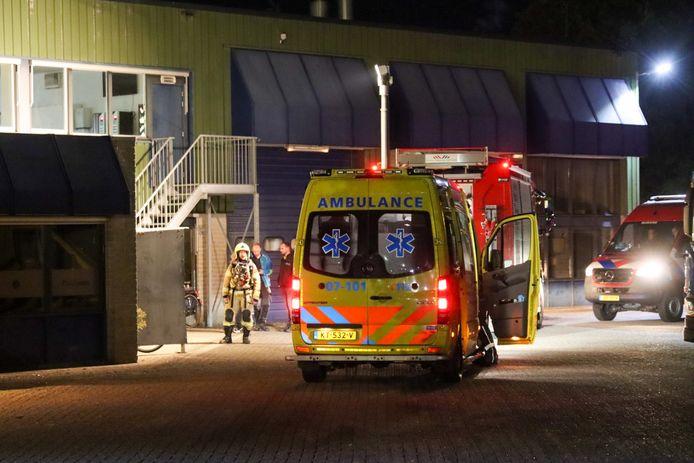 brandweer en ambulance rukken uit naar CleanLease in Nijkerk