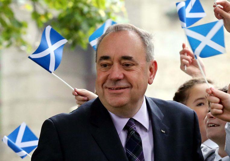 Voormalig Schots premier Alex Salmond, dé pleitbezorger van het referendum voor Schotse onafhankelijkheid in 2014. Het nee-kamp haalde het toen nipt.