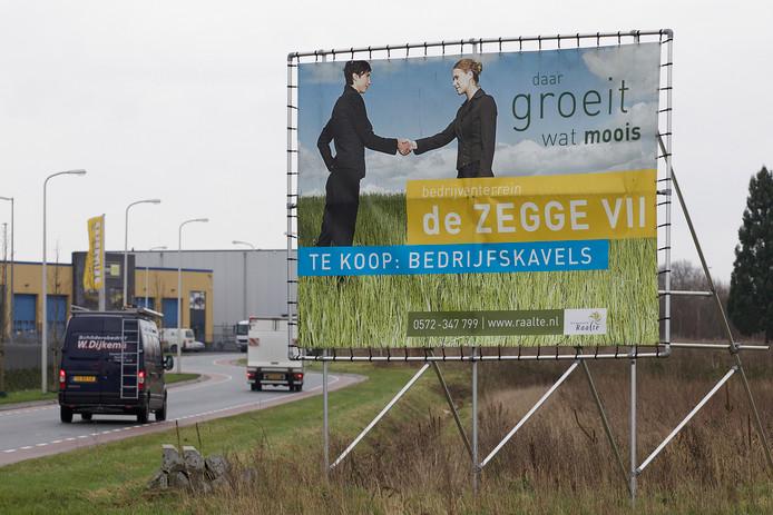 Het bedrijventerrein de Zegge VII in Raalte.