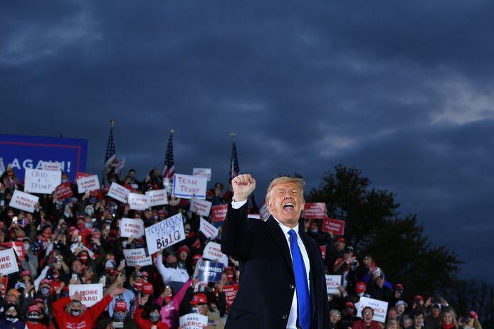 Trump gisteren in Ohio.