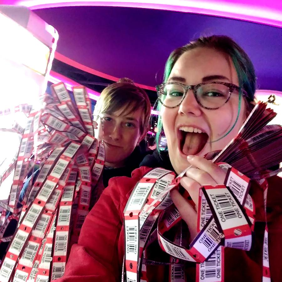 De 19-jarige Wendy van Harten vindt het leuk om zo nu en dan met vrienden naar Gamestate in Rotterdam te gaan.