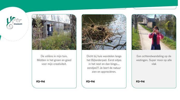 Mensen kunnen bijvoorbeeld foto's insturen onder het thema 'Welk mooi plekje bij je huis heb je ontdekt?'