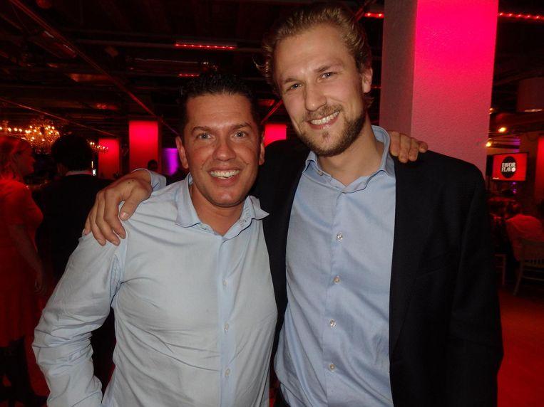 Chef Joris Bijdendijk (r) van restaurant Rijks werd derde. Jacob Jan Boerma, drie Michelinsterren met De Leest in Vaassen, zestiende. 'Leuk zo'n lijst, iets te Amsterdams' Beeld Schuim
