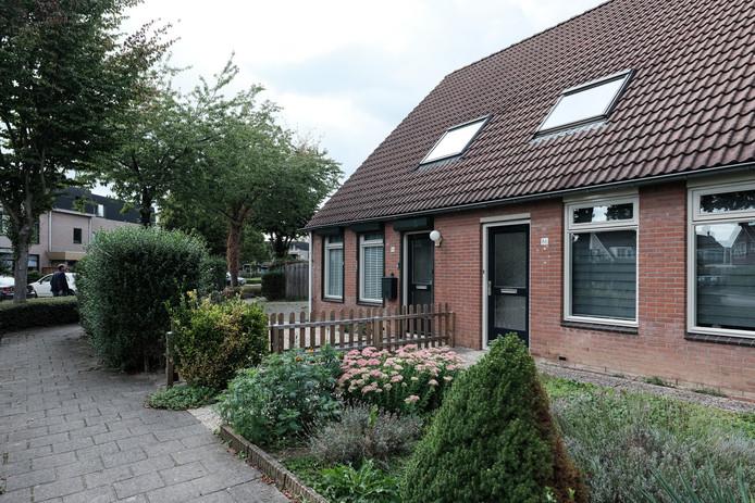 Het huurhuis aan de Steenstraat in Duiven.