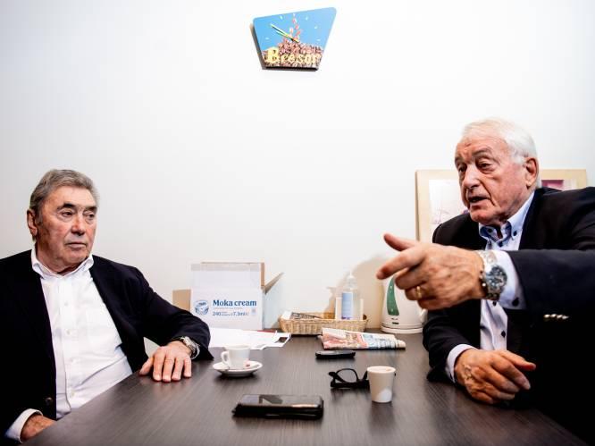 """Eddy Merckx en Paul Van Himst vurig over """"de voetbal en de vélo"""": """"Remco is een beetje te opvliegend, Eddy"""" - """"Hij zal wel kalmeren, Paul"""""""