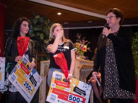 Tessa (16) gaat vol enthousiasme 'haar' vmbo in Apeldoorn promoten