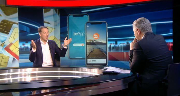 Minister van Telecom en Digitale Agenda Alexander De Croo (Open Vld) kwam in de studio van VTM NIEUWS praten over de nieuwe app.
