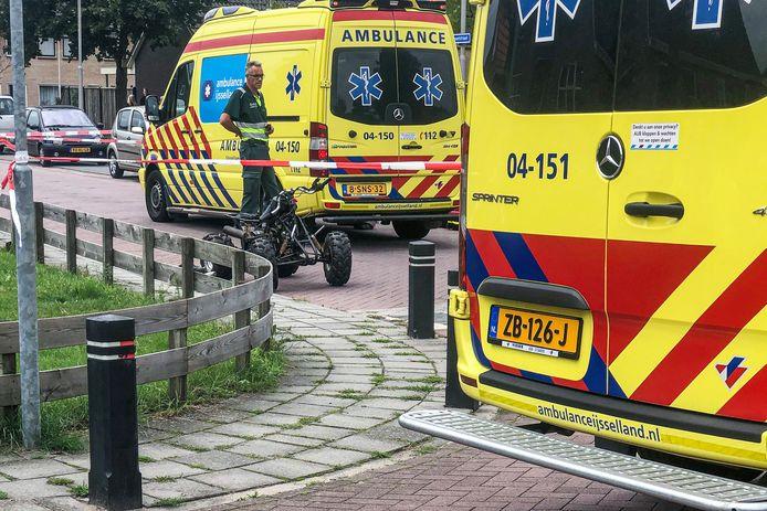De bestuurder van een quad raakte maandagmiddag betrokken bij een ongeluk in Kloosterhaar.