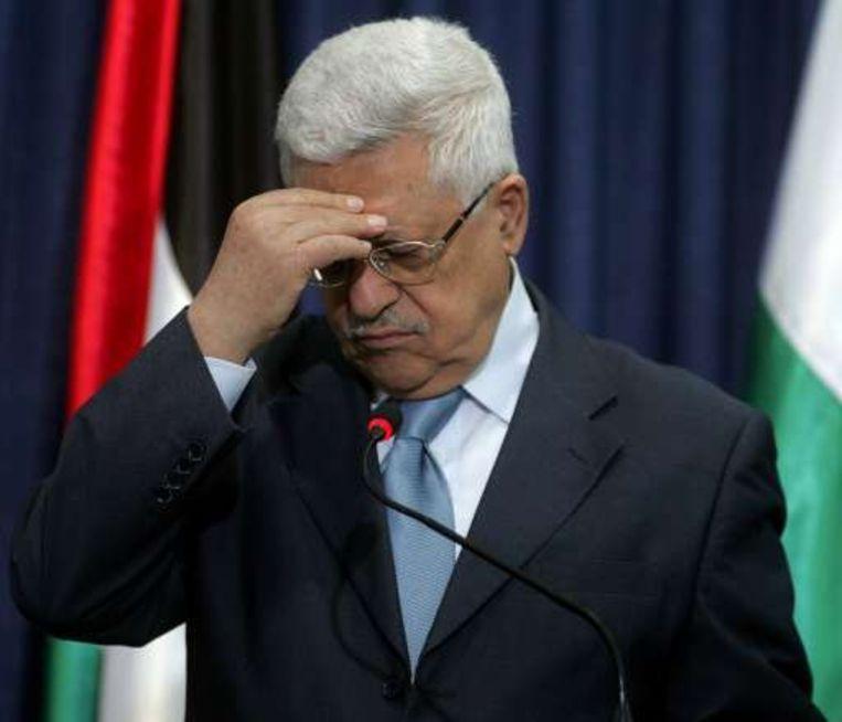 De Palestijnse president Mahmud Abbas