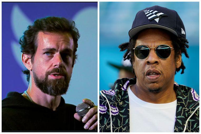 Jack Dorsey (links) en Jay-Z (rechts) Beeld Reuters