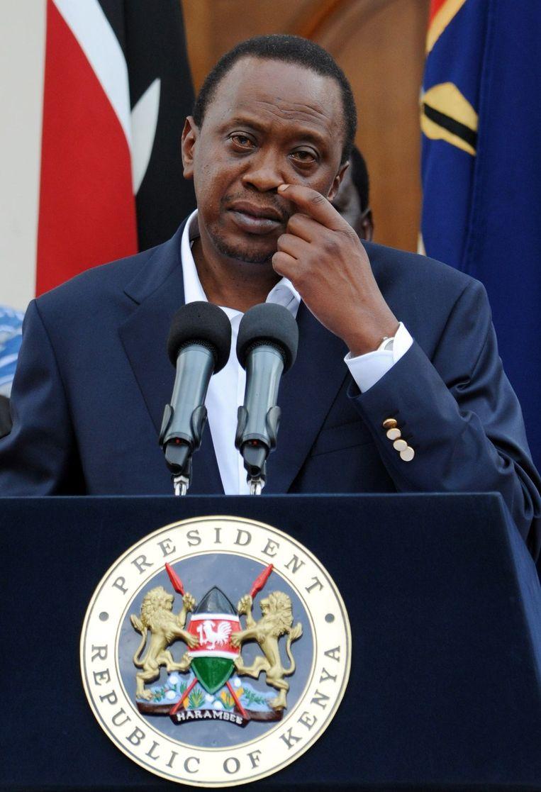 President van Kenya Uhuru Kenyatta. Beeld AFP