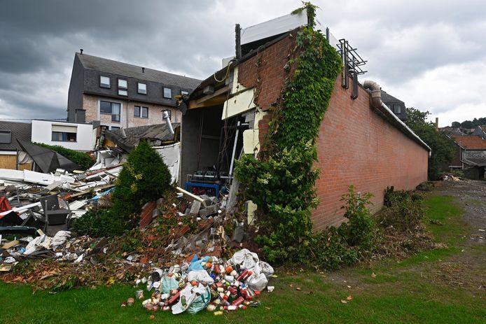 Une maison détruite par les inondations à Theux.