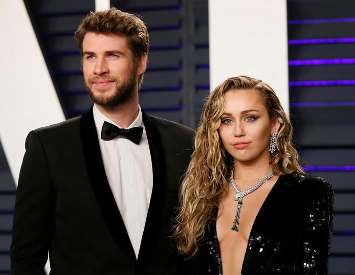 Liam Hemsworth en Miley Cyrus in betere tijden.