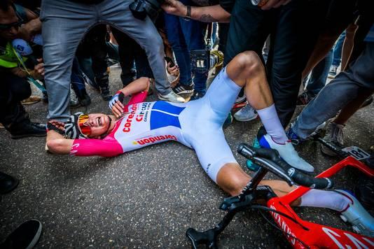 Mathieu van der Poel na zijn zege in de Amstel Gold Race.