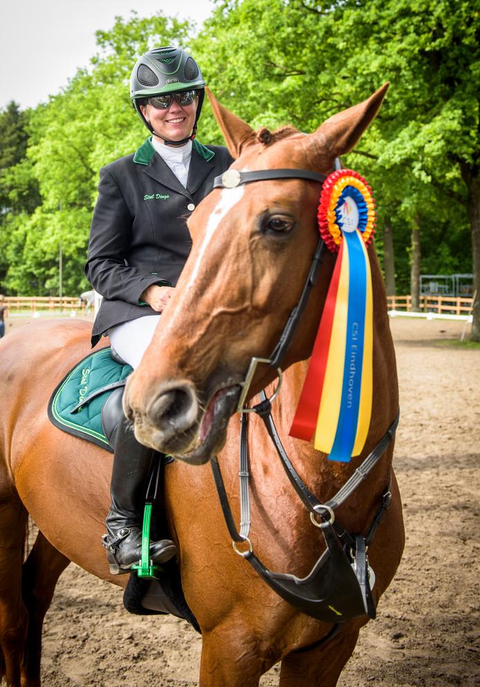 EINDHOVEN - Concours Hippique Eindhoven, nummer 5 van de Derby: Bianca  Schoenmakers