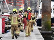 Brand op boot in jachthaven Breskens