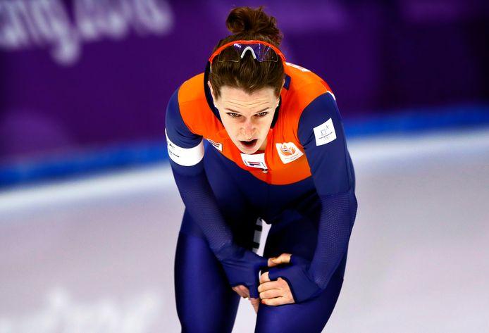 Ireen Wüst eerder dit jaar op de Olympische Spelen in Pyeongchang.