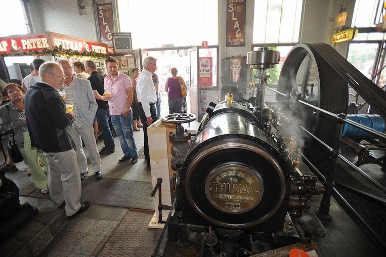 De oude stoommachine werkte nog perfect.